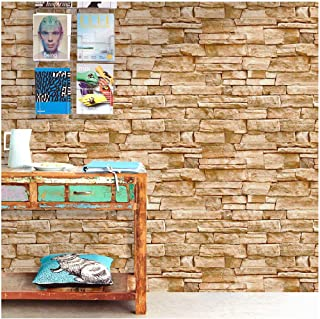 HaokHome 1619 Faux Stone Peel and Stick Wallpaper 17.7