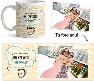 Fotoprix Taza Personalizada con Foto para Mejor Amigo   Regalo Original Amiga   Varios diseños (Café Virtual)