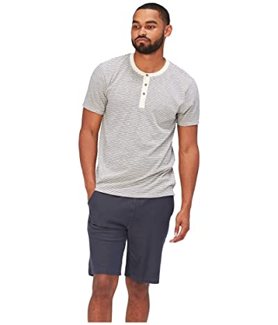 Threads 4 Thought Troy Stripe Short Sleeve Henley (Black/Ecru) Men