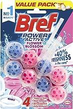 Bref Bref Power Active Flower Blossom, Rim Block Toilet Cleaner, 2x50g, 100g, Floral; Flower 100 grams