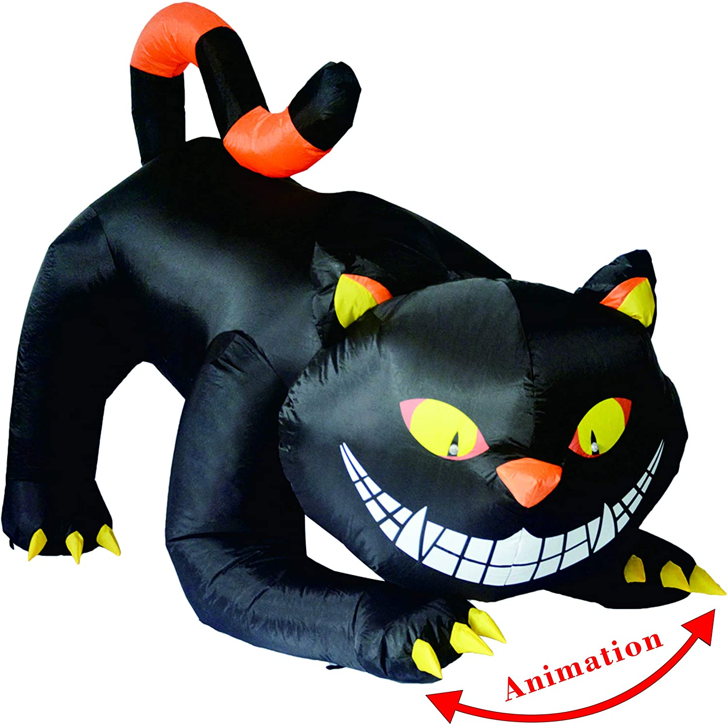 GOOSH 6 FT Halloween Recommendation Inflatables Outdoor 25% OFF with Fangs Cat B Black