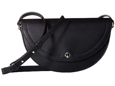 Kate Spade New York Andi Half Moon Crossbody (Black) Handbags
