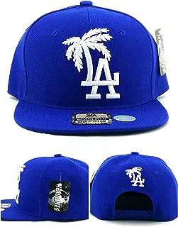 Headlines Los Angeles New Leader LA Palm Blue White Era Snapback Hat Cap