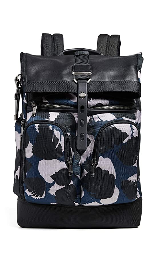 Tumi Men's Alpha Bravo London Rolltop Backpack, Congo Print, One Size
