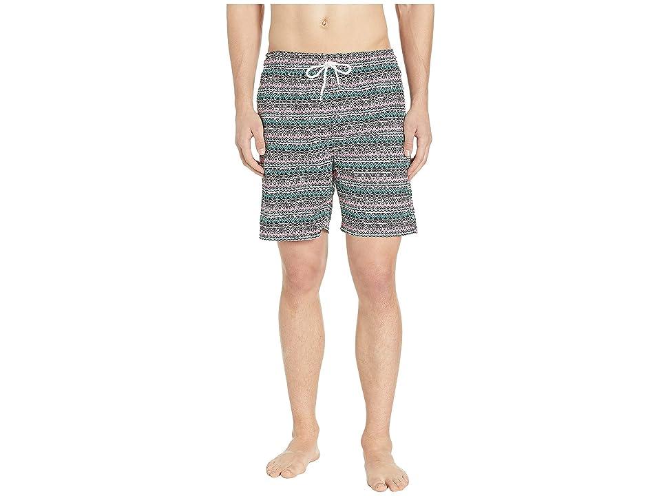 U.S. Surf Club Tribe Stripes Swim Shorts (Pink Coral) Men