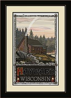 """Northwest Art Mall PAL-4009 MFGDM SHC Hayward Wisconsin Summer Hill Cabin Framed Wall Art by Artist Paul A. Lanquist, 13"""" ..."""