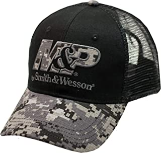 fc9ae51e 540Brands Smith & Wesson Men's Black One-Size Digi-Camouflage Mesh Hat
