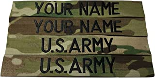 4 piece Multicam OCP Name & US Army Tape set, Sew-On, Customized