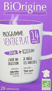 Biorigine – Programme Ventre Plat de 14 Jours – Thé Vert et Menthe – Ingrédients d'Origine Naturelle – Fabriqué en France...