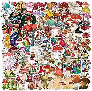 100 Pack Cute Mushroom Stickers for Water Bottle Skateboard, Laptop,Computer,Phone,Trendy Decal for Teen Bike,Travel Case,...