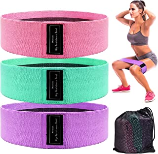 Starluo Fabric Resistance Bands for Legs and Butt Hips & Glutes - Non Slip Elastic Booty Bands, 3 Levels Workout Bands Wom...
