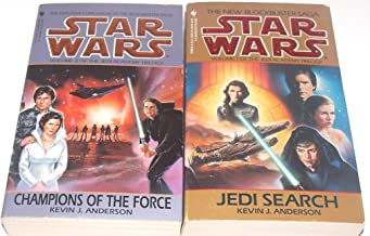 Star Wars Two Book Bundle Collection Set, Includes: Volume 1 (Of the Jedi Academy Trilogy) Jedi Search and Volume 3 Champi...