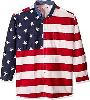 Men's Stars & Stripes Pieced Flag Shirt L/S