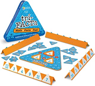 Learning Resources tri-FACTa Addition and Subtraction Game, Early Math Skills, Ages 6+.,Multi-color,10 W in