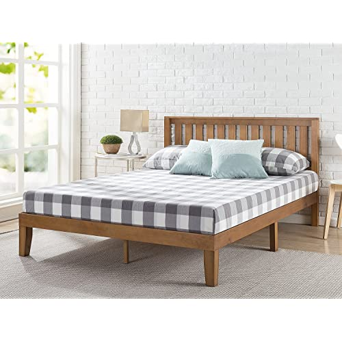 King Bed Frame Wood Amazoncom