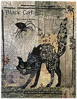 Black Cat Halloween Fiberworks Laura Heine Fused Art Quilt Pattern