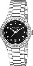 Baume & Mercier Women's A8716 Riviera Black Dial Diamond Watch