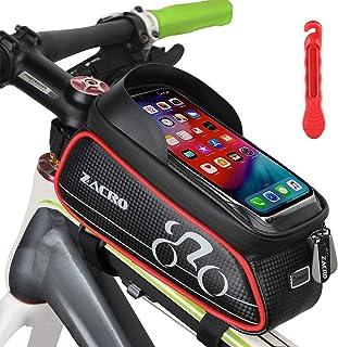 Bolsa de Movil Bicicleta Manillar,Bolsa Impermeable para Bicicleta,Cremallera Doble Viseras y Pantalla t/áctil TPU,para Tel/éfono Inteligente por Debajo de 6,5 Pulgadas