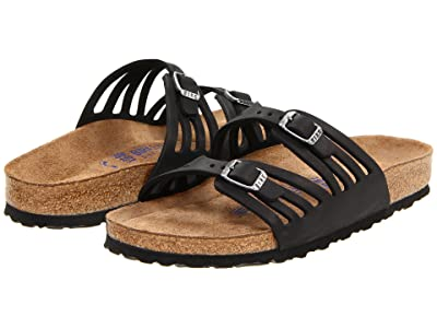 Birkenstock Granada Soft Footbed (Black Oiled Leather) Women