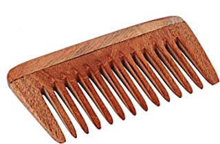 SVATV - Peine de madera de neem hecho a mano N-1 (4