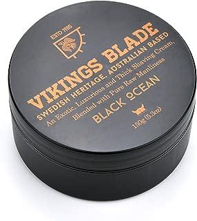 VIKINGS BLADE Black Ocean Luxury Foaming Shaving Cream, NON-LATHER