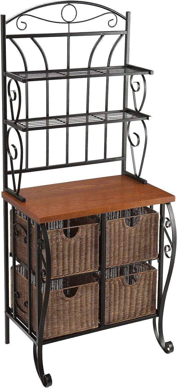 SEI Furniture Southern Enterprises Wrought Iron Bakers Rack