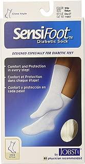 JOBST Sensifoot, Diabetic Crew Sock, White, Medium