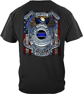 Thin Blue Line T Shirt - Law Enforcement Gear for Men - Law Enforcement - FF2083