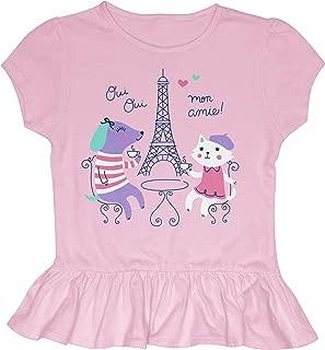 Stephen Joseph Kids' Toddler Ruffled Jersey Shirt
