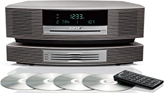 Bose Wave Music System with Multi-CD Changer - Titanium Silver, Compatible with Alexa Amazon Echo