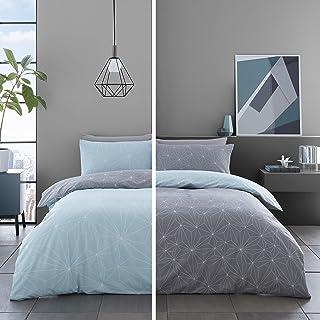 Gaveno Cavailia Premium Printed Design Duvet Cover, Soft & Cosy Quilt Set, Easy Care Bedding, Kingsize, Polycotton, Green-...