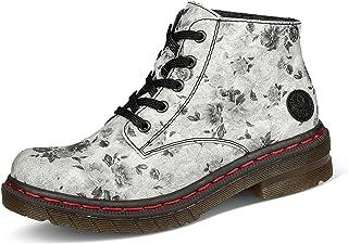 Rieker Damen Stiefeletten 56232, Frauen Schnürstiefeletten,Combat-Boots