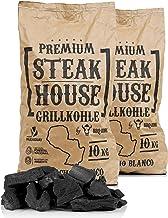 BBQ-Toro Premium Steak House Grillkohle   20 kg   Querbracho Blanco Kohle   Holzkohle in Restaurant Qualität   Steakhousekohle