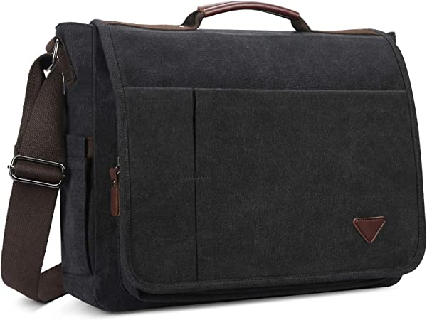 Laptop Bag Messenger Bag Canvas Computer Bag Businss Shoulder Bag For Travel