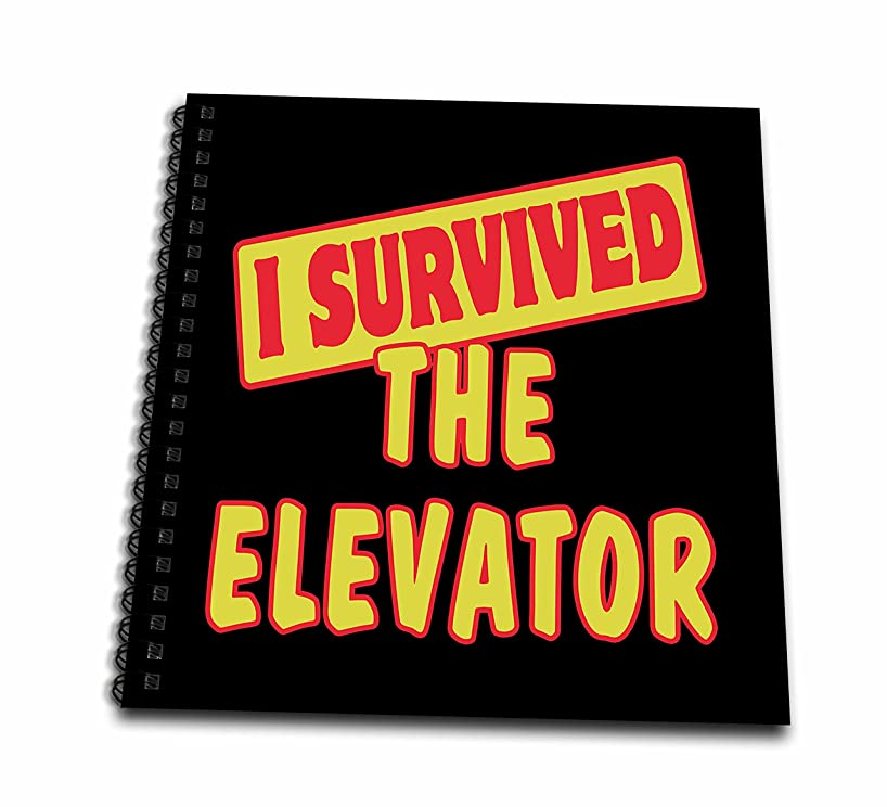 3dRose db_118330_1 I Survived The Elevator Survial Pride and Humor Design-Drawing Book, 8 by 8-Inch