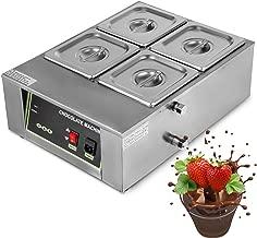 VEVOR Commercial Electric Chocolate Tempering Machine Melter Maker with 4 Melting Pot 8kg Capacity Electric Water Heating Chocolate Melter