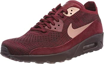 Nike Men's Air Max 90 Ultra 2.0 Flyknit Running Shoe (11 D(M) US, Team Red/Rust Pink)
