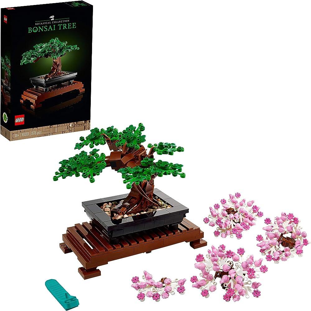 Lego creator expert, albero bonsai,collezione botanica,modello da esposizione 10281