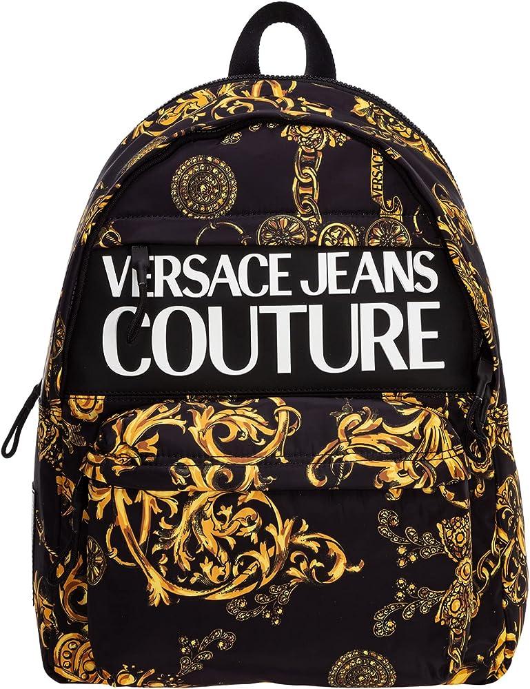 Versace jeans couture zaino da uomo 80% nylon 20% poliuretano E71YA4B90-EZS109_EG89
