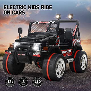 Vosson Kids Jeep Car 12V Power Electric Kids Car Kid Ride On Car Children Electric Car with Remote Control and Battery