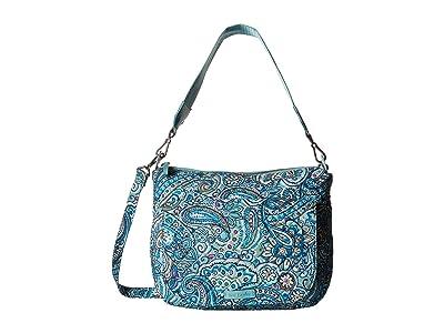 Vera Bradley Carson Shoulder Bag (Daisy Dot Paisley) Shoulder Handbags