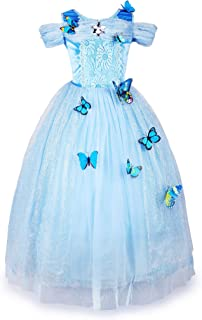 New Cinderella Dress Princess Costume Butterfly Girl
