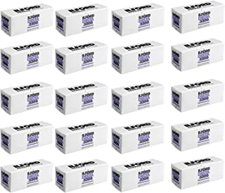 Ritz Camera Pack of 20 Ilford Delta 3200 Professional, Black and White Print Film, 120 (6 cm), ISO 3200 (1921535)