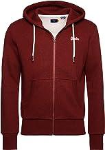 Superdry Heren Klassieke hoodie met rits, Rood