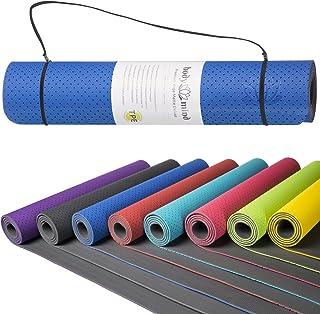 Body & Mind Yogamatta gymnastikmatta träningsmatta pilates mattor halkfri föroreningsfri för hem och professionell fysio o...