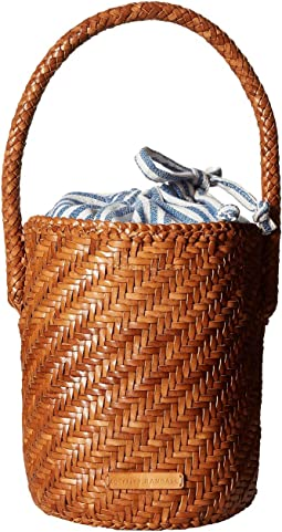 Cleo Woven Leather Bucket