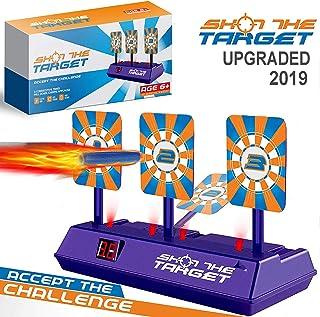 Suibety Shooting Digital Target for Nerf Guns Blaster N-Strike Elite Mega Rival Kids Electric Scoring Auto Reset Targets Toys for Boys and Girls
