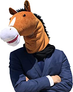 WALIKI Horse Head Mask | Luxury Edition | Serious Horse Men Costume Brown