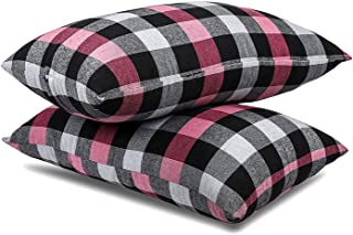 Cotton Fabric with Fresh Microfiber Fiber Filling Soft Sleeping Pillow for Bed 16 x 26 Inch Pack of 2