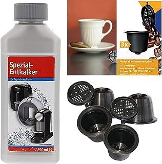 TronicXL - Juego de cápsulas para cafeteras Nespresso, rellenables y descalcificadoras
